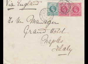 South Africa 1904: Marine Hotel Durban to Napoli/Italy
