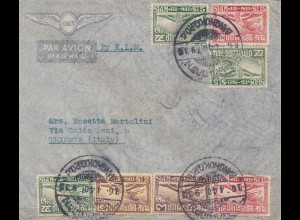 Thailand 1940: air mail by KLM Bangkok to Trieste/Italy