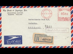 Thailand 1956: Bangkok registered to Amsterdam
