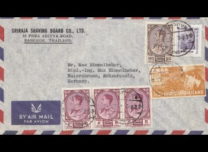 Thailand 1963: air mail Bangkok to Raiersbronn