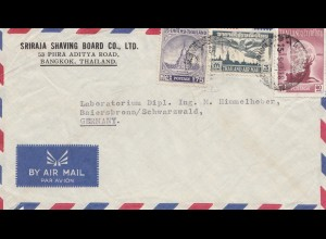Thailand 1958: air mail Bangkok to Baiersbronn