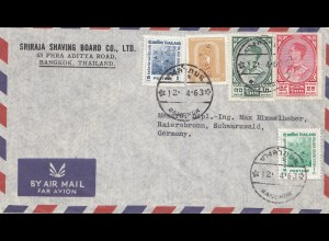 Thailand 1963: air mail Bangkok to Baiersbronn
