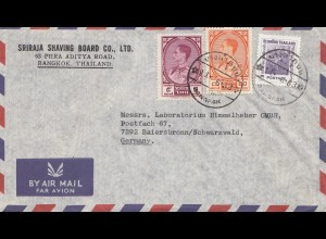 Thailand 1963: air mail Bangkok to Laboratorium Baiersbronn