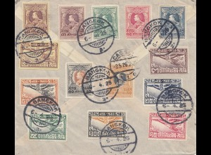 Thailand 1928: Bangkok registered to Kassel/Germany