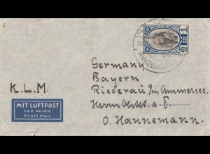 Thailand 1906: air mail via KLM Bangkok to Riederau am Ammersee