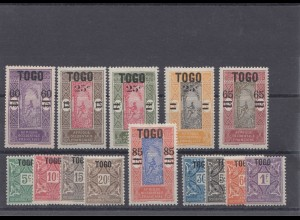Togo #59-64, P1-8, stamps hinghed