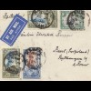 Uganda 1935: air mail Kampala Imperial Hotel to Basel/Switzerland