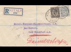 Kenya 1932: registered Kitaleed to Bad Homburg