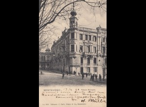 Uruguay 1904: post card Montevideo to Dresden
