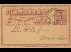 Uruguay 1898: Montevideo post card