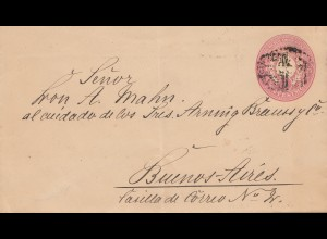 Uruguay 1897: letter via Abonados to Buenos Aires