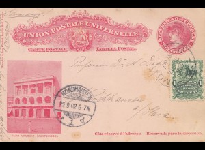 Uruguay 1902: post card Montevideo to Nordhausen/Harz