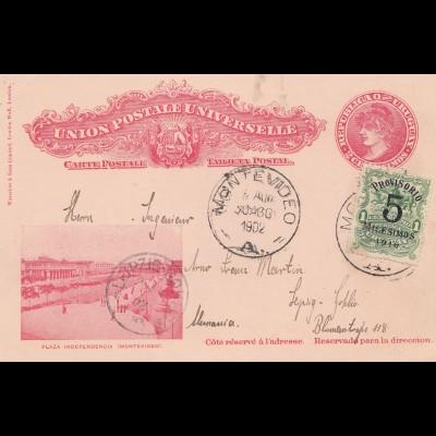 Uruguay 1902: post card Montevideo to Leipzig