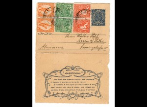 Uruguay 1907: letter Montevideo to Essen/Germany