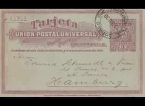 Uruguay 1898: post card Montevideo to Hamburg