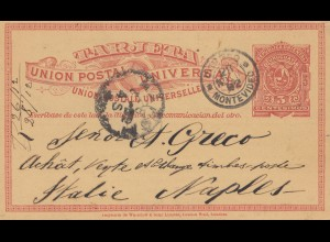 Uruguay 1902: post card Montevideo to Napoli/Italy