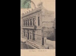 Uruguay 1909: post card Mercedes Club Pogreso to Rom/Italy