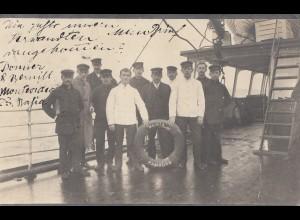 Uruguay Montevideio photo post card from ship Bahia-Hamburg to Berlin