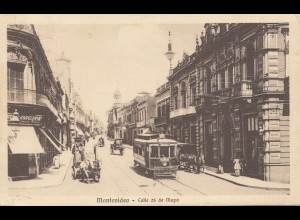 Uruguay 1934: Montevideo, post card Calle 25 de Mayo to Augsburg
