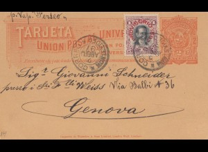 Uruguay 1897: Montevideo post card to Genf/Switzerland
