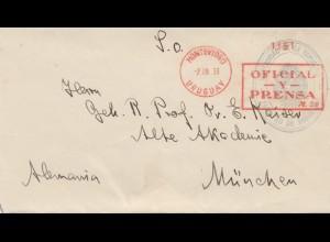 Uruguay 1933: Montevideo to München