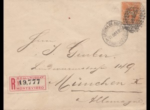 Uruguay 1898: registered Montevideo to München