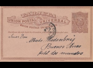 Uruguay 1899: Montevideo to Buenos Aires, post card