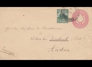 Uruguay 1898: Montevideo to Inssbruck/Austria