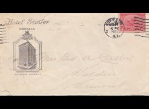USA 1921: Buffalo, NY, Hotel Satler