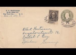 USA letter New York City to Dresden, Freital