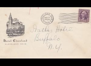 USA 1938: Cleveland, Ohio Hotel to Buffalo, N.Y.