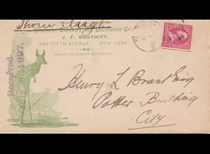 USA 1897: New York to Potter Building, City