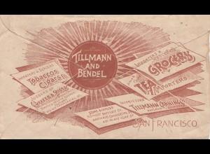 USA 1893: San Francisco Tobaccos, Cigars, Grocers, Tea, ...to Oakland