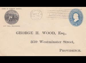 USA 1895: Clerk of common Council, City Hall, Providence