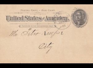 USA 1895: Post card Paterson: Gesang Verein Germania / German text
