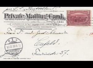 USA 1900: post card Buffalo, Pan American to Crefeld via S.S. Deutschland