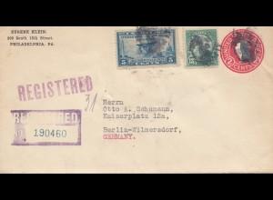 USA 1929: Philadelphia registered to Berlin