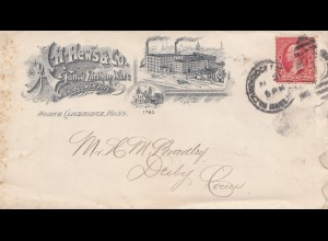 USA 1902: Fancy Earthen Ware and Flower Pots North Ambridge, Mass to Derbby, Con