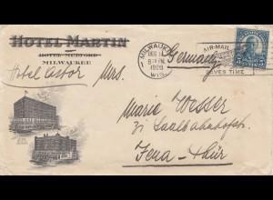 USA 1926: Hotel Astor Milwaukee to Jena, Germany