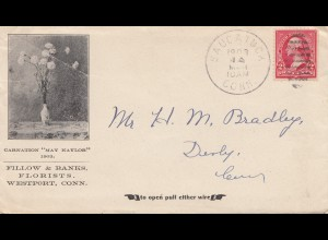 USA 1903: Florists, Westport, Conn to Derby