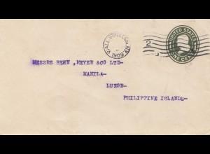 USA 1909: Wall Street New York to Luzon, Manila, Philippine, Islands