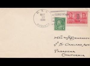 USA 1938: U.S.S. Augusta to Pasadena, Calif.