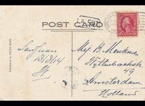 USA 1914: San Juan post card to Amsterdam, Netherlands