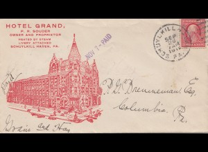 USA 1911: Hotel Grand, Schylkill Haven, PA, to Columbia