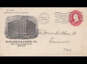 USA 1909 Chicago Ill, to Fennimore Wis.