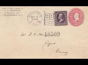 USA 1900: Plainfield, N.J. to Erfurt/Germany