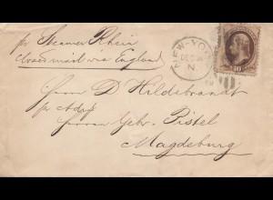 USA 1881: New York to Magdeburg/Germany via England