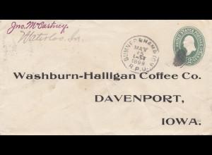 USA 1899: Sumner & Hampton to Davenport Iowa