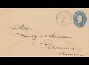 USA 1896: Claksvill to Bremen / Germany