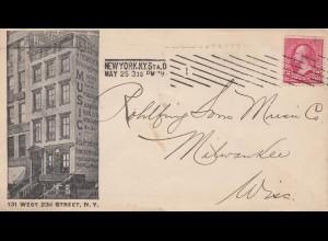 USA 1897: New York, 131 West, 23d Street to Milwaukee